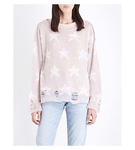 WILDFOX Seeing Stars knitted jumper (Lilac dawn