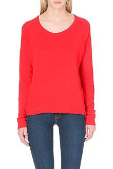 SUNDRY Long-sleeved jersey sweatshirt