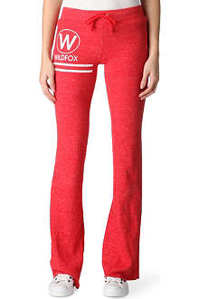 WILDFOX Towelling jogging bottoms