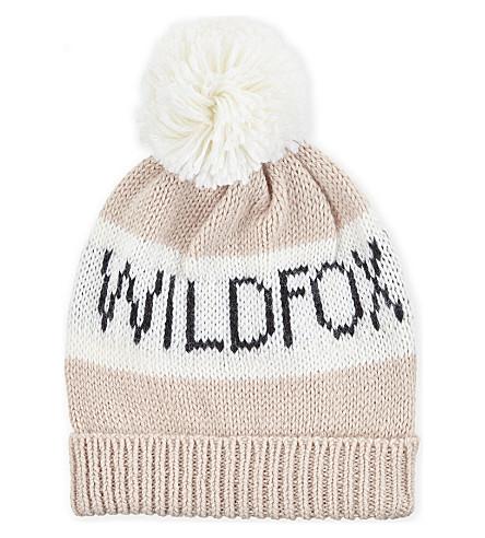 WILDFOX 标志羊毛混纺帽 (冰 + 薰衣草