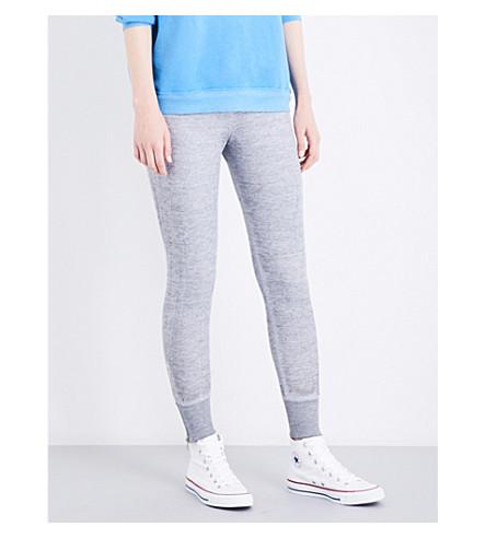 WILDFOX Fame cotton-blend track pants (Heather