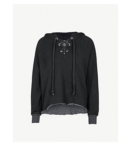 WILDFOX Hutton jersey hoody (Clean+black