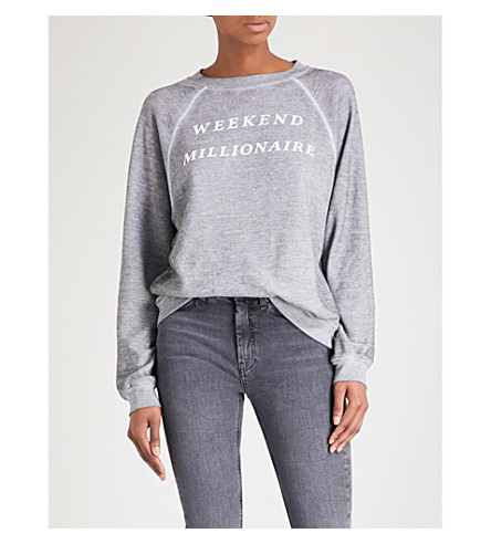 WILDFOX Weekend Millionaire Sommers jersey sweatshirt (Heather
