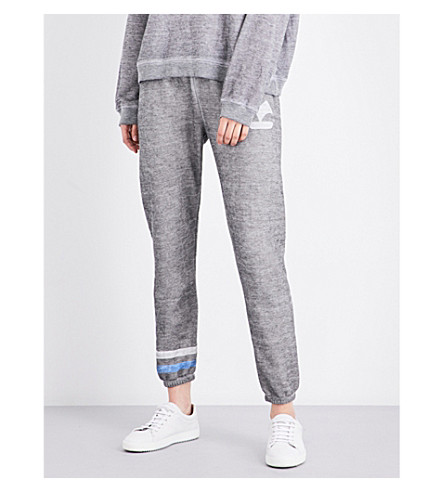 WILDFOX Yacht Problems skinny fleece jogging bottoms (Heather