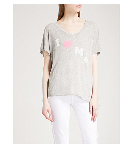 WILDFOX I Love Me cotton-jersey T-shirt (Heather