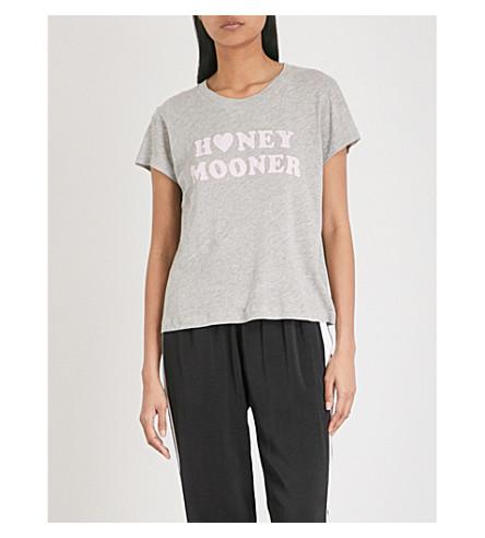 WILDFOX Honeymooner cotton-blend T-shirt (Heather