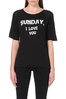 WILDFOX Dear Sunday cotton-jersey t-shirt