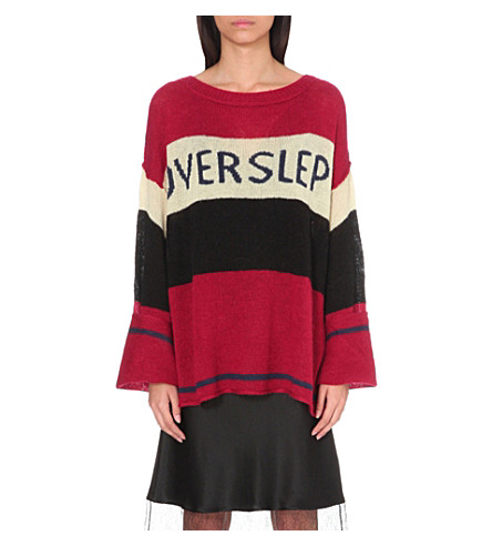 WILDFOX Overslept knitted jumper (Crimson crush