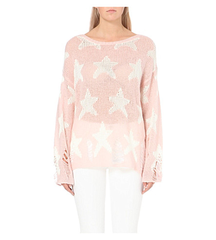 WILDFOX Seeing Stars knitted jumper (Pouty+pink