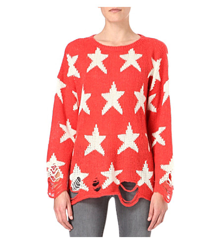 WILDFOX Seeing Stars knitted jumper (Red