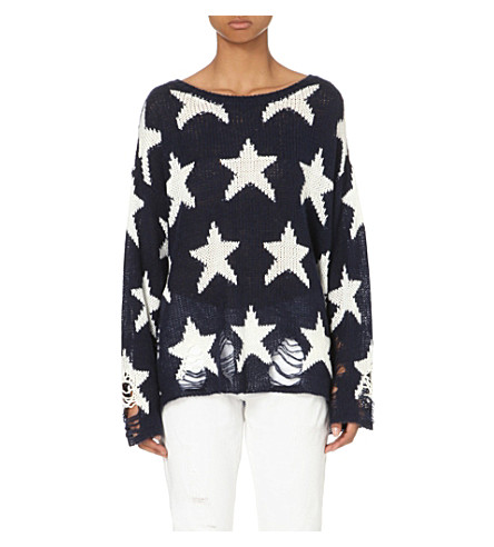 WILDFOX Seeing Stars Lenon knitted jumper (Oxford blue
