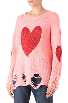 WILDFOX Lennon happy heart jumper