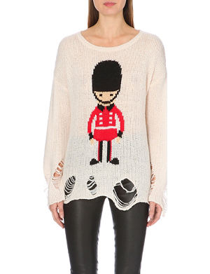 WILDFOX Soldier boy knitted jumper