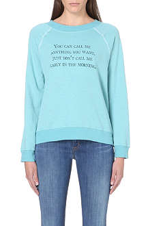 WILDFOX Call Me Anything jersey sweat top