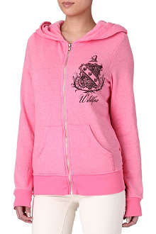 WILDFOX Crest and logo hoody