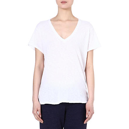 SUNDRY Relaxed-fit cotton t-shirt (White