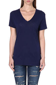 SUNDRY V-neck cotton-jersey t-shirt