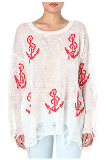 WILDFOX Shipwrecked oversized jumper