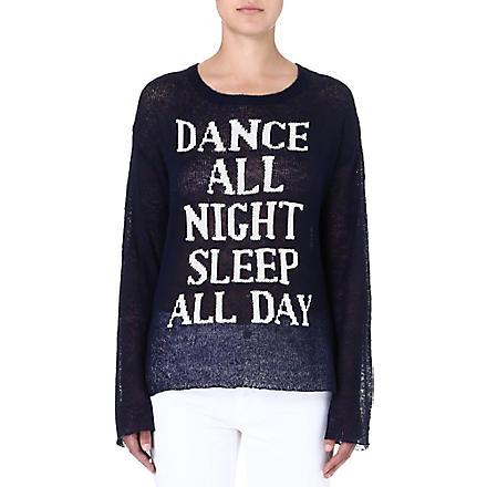 WILDFOX Dance All Night jumper (Navy