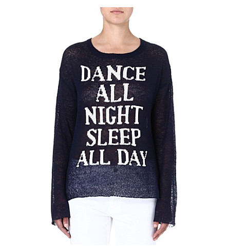 WILDFOX Dance All Night jumper (Navy