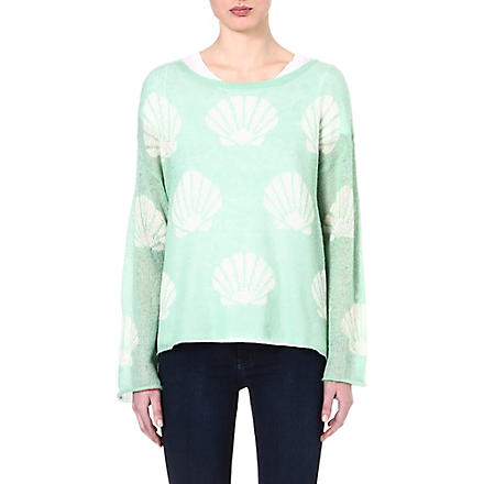 WILDFOX Roadie Shell knitted jumper (Green