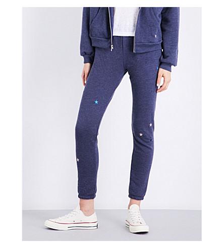 WILDFOX Starlet cotton-blend track pants (Navy
