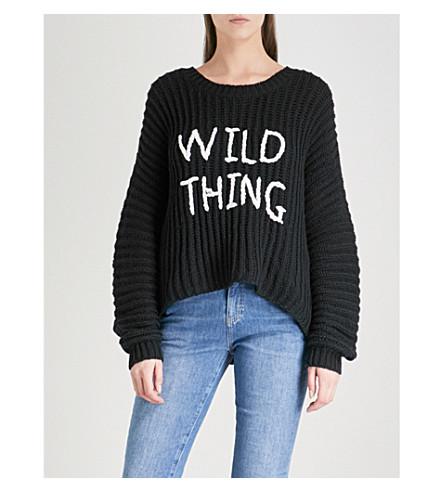 WILDFOX Wild Thing Newell cotton jumper (Black