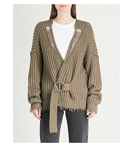 WILDFOX Citadel cotton cardigan (Deep+olive