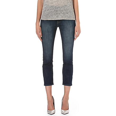 WILDFOX Marissa boyfriend high-rise jeans (Moonlit