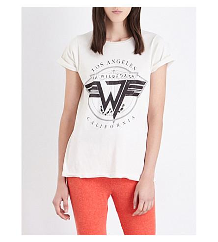 WILDFOX On Tour cotton-jersey T-shirt (Alabaster