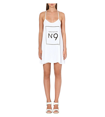 WILDFOX Ibize Love Potion jersey dress (White