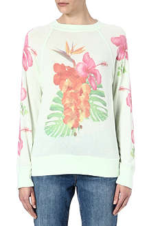 WILDFOX Nantucket printed sweatshirt