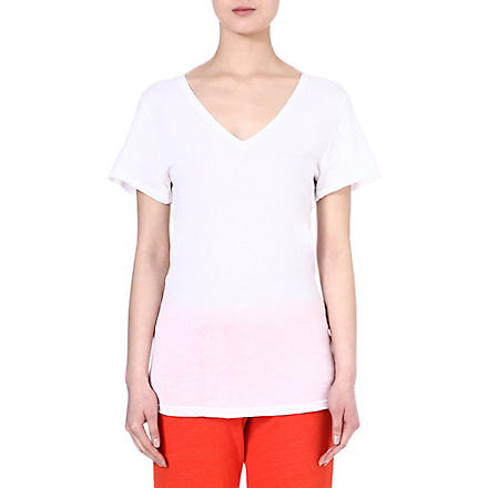 SUNDRY V-neck cotton t-shirt (White