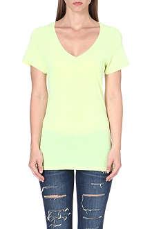 SUNDRY V-neck cotton-jersey t-shirt