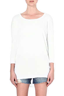 SUNDRY Cropped-sleeve top