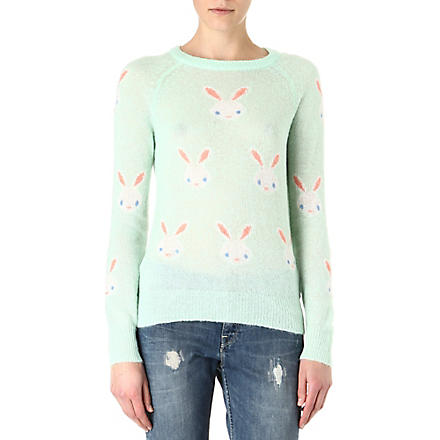 WILDFOX Snow bunny knitted jumper (Teal