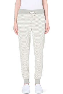 SUNDRY Striped jersey jogging bottoms