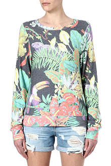 WILDFOX Beach Jungle printed sweatshirt