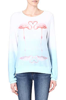 WILDFOX Flamingo Love knit jumper