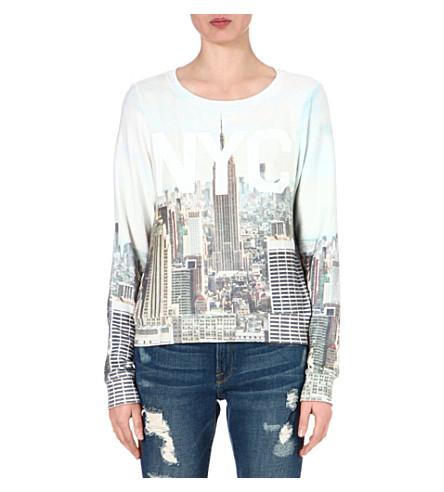 WILDFOX NYC printed sweatshirt (Multi-coloured