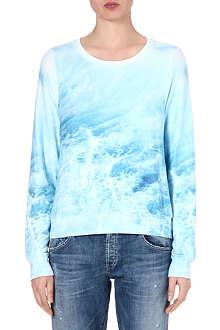 WILDFOX Sandbar wave-print sweatshirt