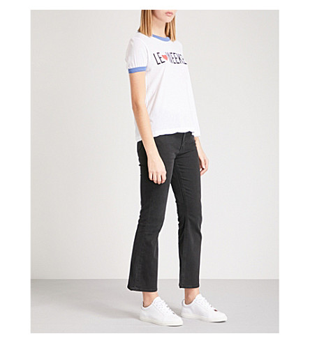 WILDFOX Le Weekend jersey T-shirt (White/+blue