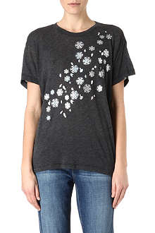 WILDFOX Oversized snowflake t-shirt