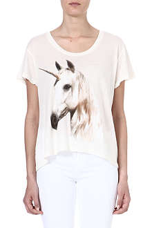 WILDFOX Lazy Weekend unicorn t-shirt
