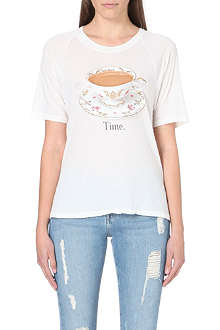 WILDFOX Tea Time cotton-jersey t-shirt