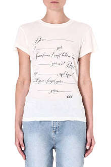 WILDFOX Love Letter jersey t-shirt