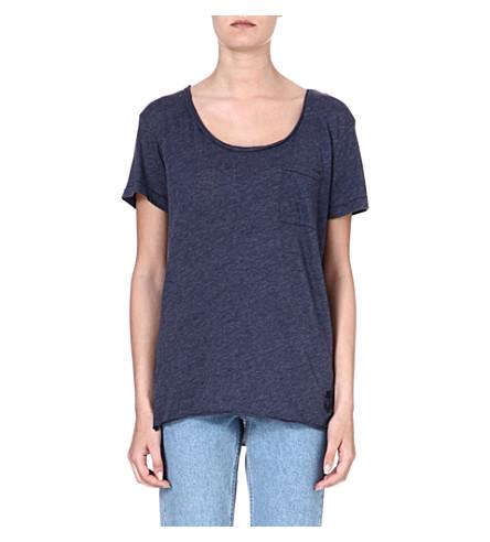 WILDFOX Oversized cotton-blend T-shirt (Sailor
