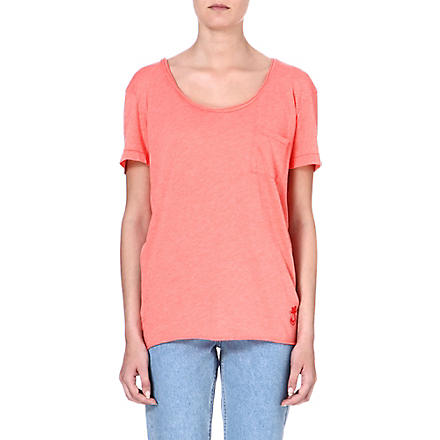 WILDFOX Oversized cotton-blend T-shirt (Sunbathe