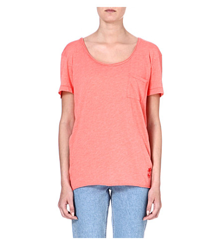 WILDFOX Oversized cotton-blend T-shirt (Sunbathe
