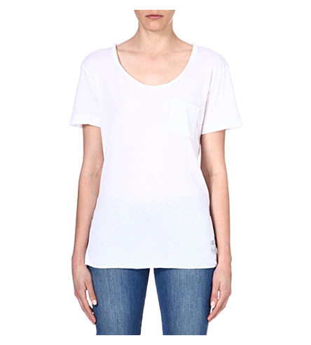 WILDFOX Essential cotton-blend t-shirt (White